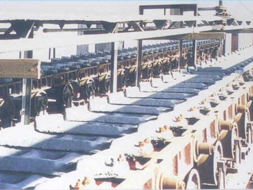 高炉配套设备:为客户制作、安装的滚轮移动式铸铁机