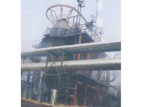 高炉配套设备:为客户制作的128高炉布袋除尘及重力除尘器